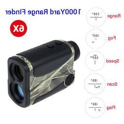 1000Yards 6X25mm Golf Hunting Laser Rangefinder Speed Scan F
