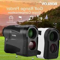 BOBLOV 600M Golf Range Finder W/Slope Flag Lock Speed Measur