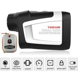 Mileseey 650 Yards Golf Laser Range Finder with Flag Lock, S