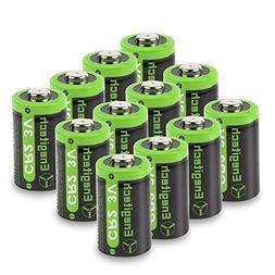 Enegitech CR2 Battery 3V Lithium 800mAh 12 Pack with PTC Pro