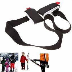 Black Ski Carrier Shoulder Lash Handle Binding Snowboard Str