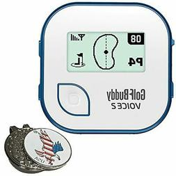 BUNDLE Golf Course GPS Units 2017 Voice 2, Blue + Custom Bal