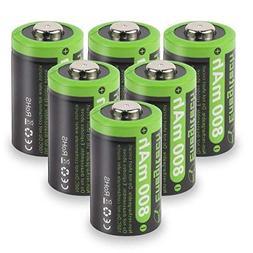 Enegitech CR2 3V Lithium Battery 800mAh 6 Pack with PTC Prot