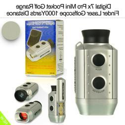 Digital 7x Pro Mini Pocket Golf Range Finder Laser Golfscope