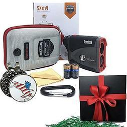 GIFT PACK Pro X2 Golf Laser Rangefinder Includes