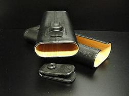 TaylorMade Golf 3 Cigar Case w/ Belt Clip NEW Cuban Cedar Li