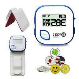 Golf Buddy Voice 2 GPS/Rangefinder Bundle 5 Markers, 1 Hat C