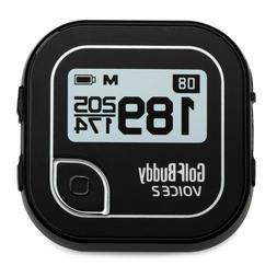 Golf Buddy Voice 2 Talking GPS Range Finder Watch Clip-On Bl