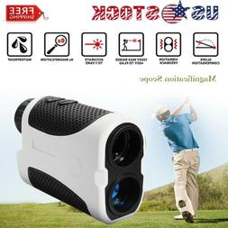 Golf Laser Range Finder w Slope Compensation Angle Scan Pins