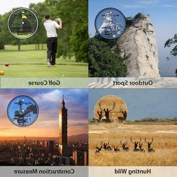 WOSPORTS Golf Range finder 6X Golf Laser Flag Lock with Vibr