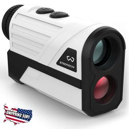 golf range finder with slope laser flag
