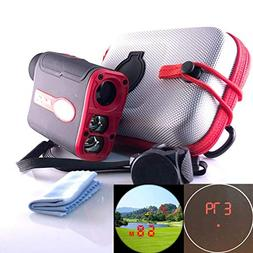 Pro Golf Rangefinder Bundle with Slope, Bag & Cart Attachmen