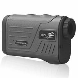 Wosports Golf Rangefinder Laser Hunting Range Finder with Fl