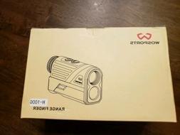 WOSports H-100G Golf Hunting Rangefinder Laser Flag Locking