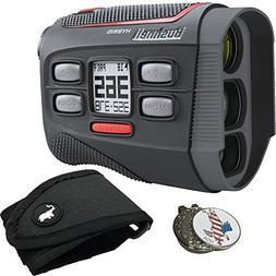 Bushnell Bundle Hybrid Golf GPS Laser Rangefinder + 1 Custom