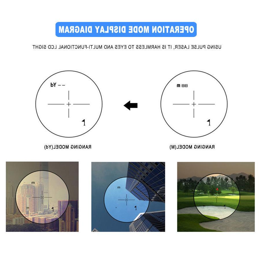 Golf Range Finder Monocular Angle Pinseeking BP