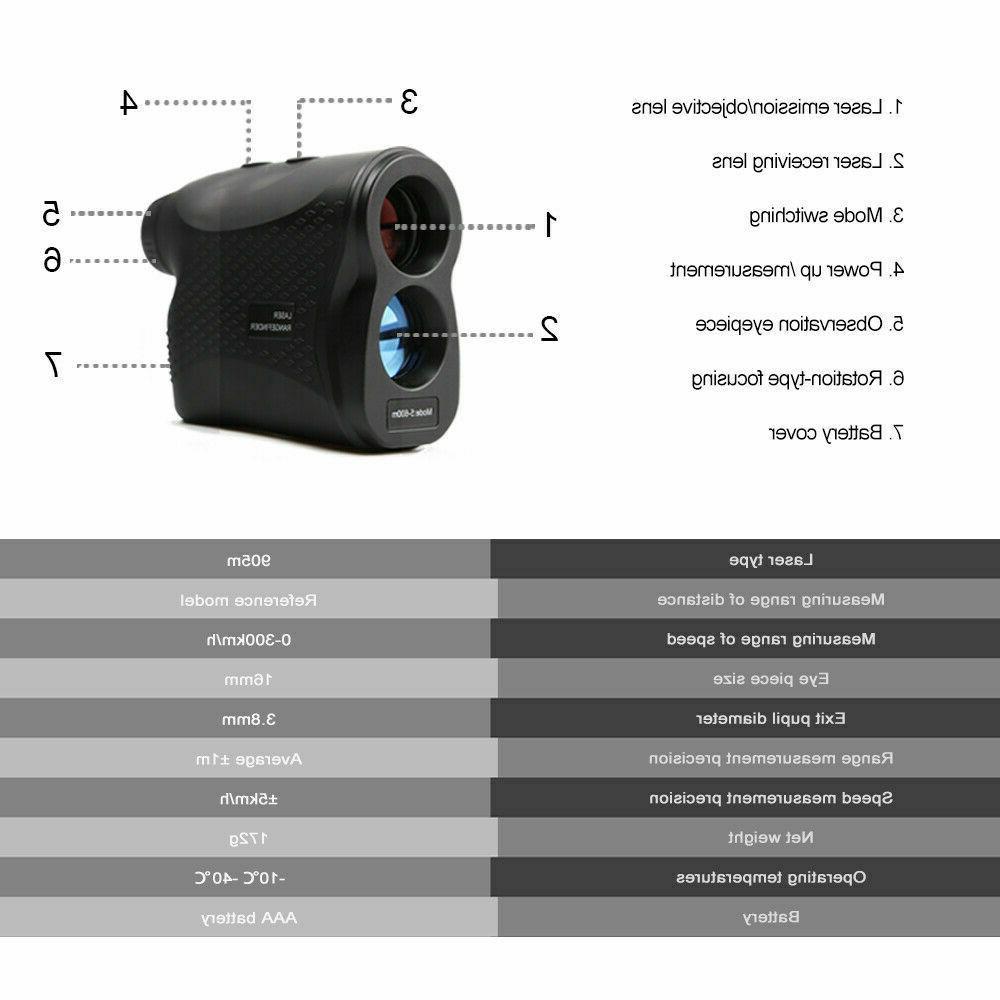 DEKO 600M Meter Digital Laser Finder Waterproof