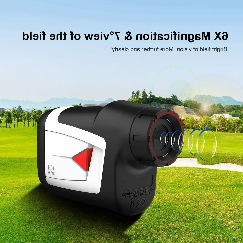 Mileseey Yard Golf Laser Range Finder w/ Flag-Lock, On/Off Vibration