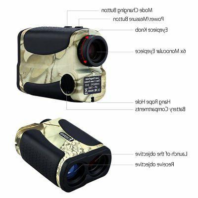 EYOYO Camo Rangefinder Range Finder Scope 6x25