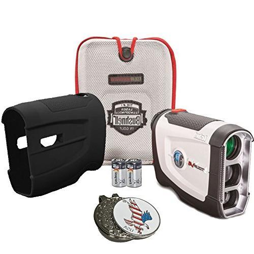 Bushnell Bundle 2016 Tour V4 Jolt Patriot Pack Golf Laser Ra