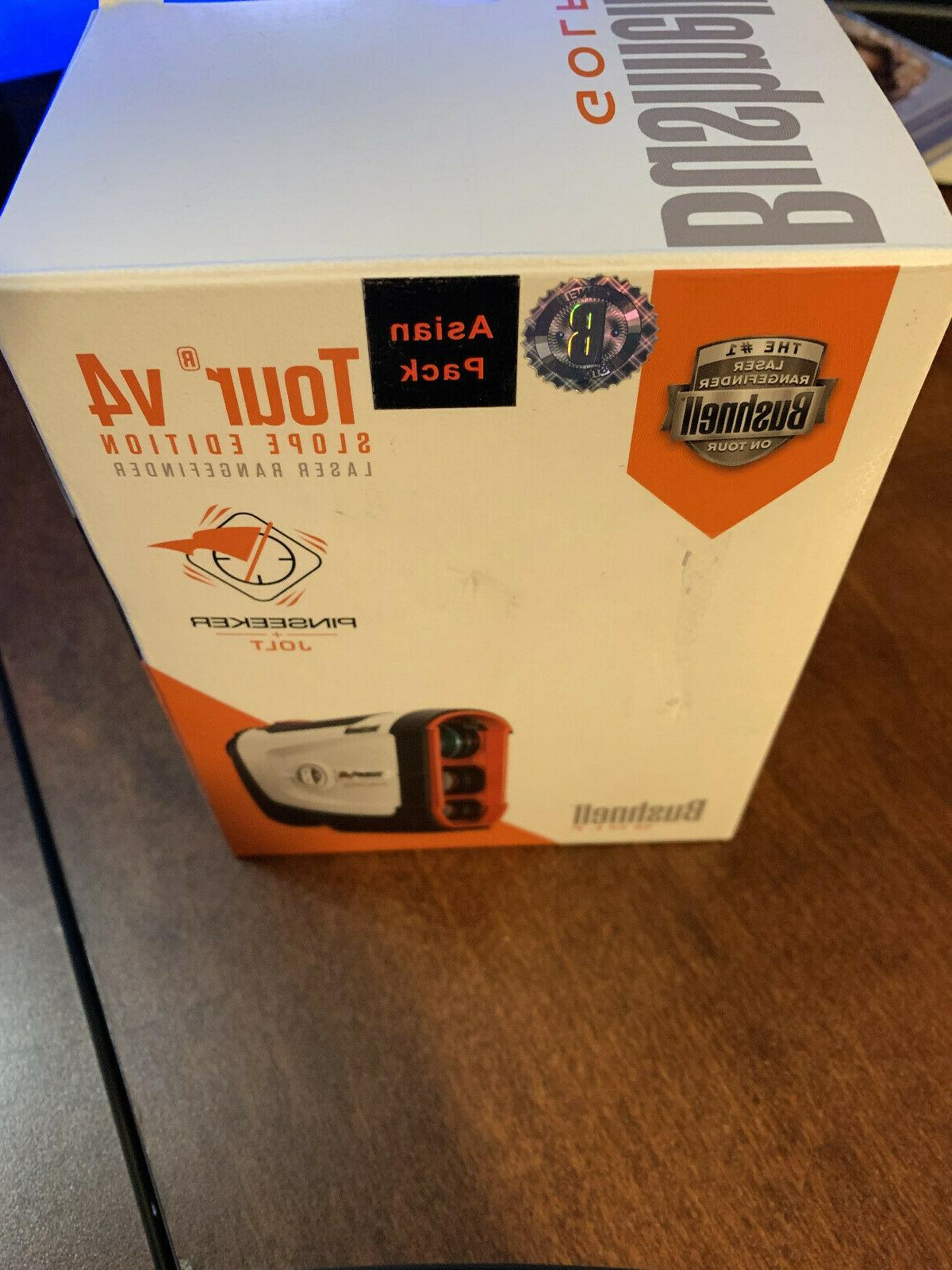Bushnell Golf Tour V4 Slope Laser Rangefinder, Asian Box Pac