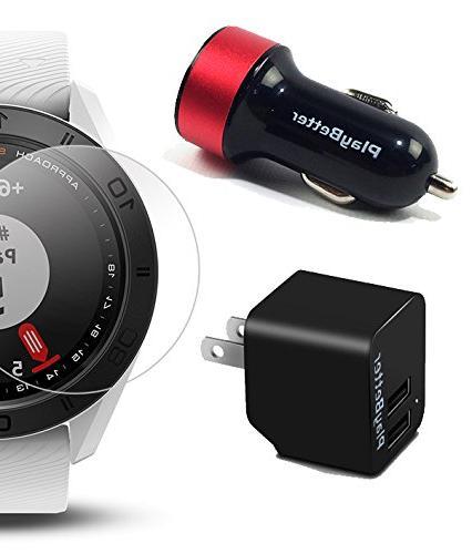 Garmin GPS Watch Protector & Bundle | Golf GPS, Screen Protector & USB Car/Wall