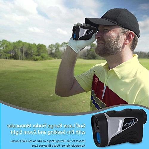 SereneLife Golf Rangefinder with - Digital Golf Range to Upgraded optical