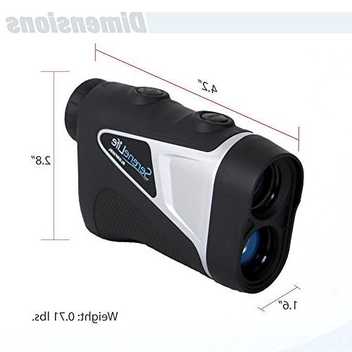 SereneLife Advanced Golf Rangefinder - Range Finder Accurate up to Yards - Upgraded optical
