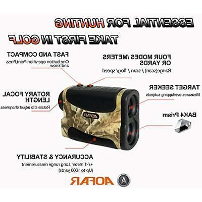 AOFAR Rangefinders Range Finder Yards Hunting