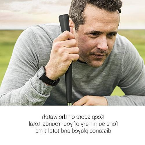 Garmin - Lightweight GPS Golf Watch, Granite 010-02028-02