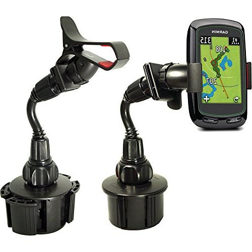 ChargerCity Bendy Cup Holder Buddy Tour Voice Platinum Garmin Approach G6 G8 Swami 5000 6000 Touch RangeFinder GPS & Iphone