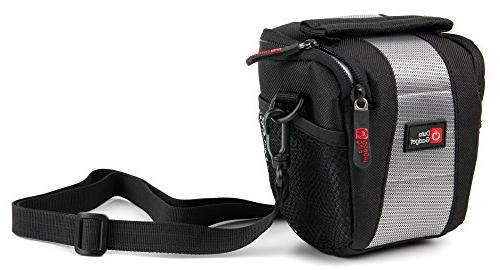 black neoprene lightweight ziplocked camcorder