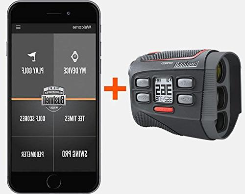 Laser/GPS Rangefinder Bundle Magnetic Golf Cart | Pinseeker Yards, 5X Mag, |