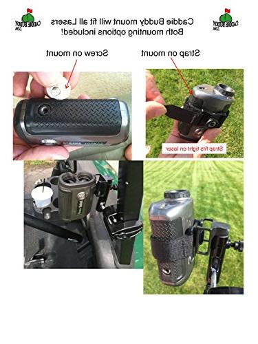 Caddie Golf Mount/Holder for Laser Rangefinders. Strap will fit all lasers Bushnell