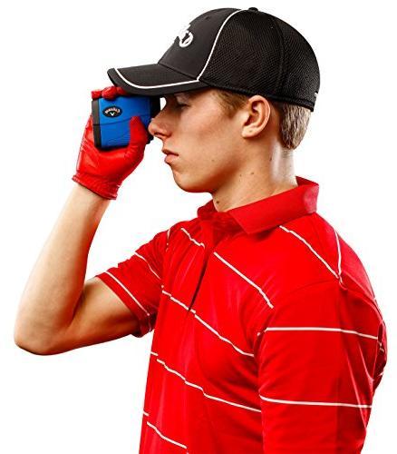 Callaway Bundle Ultra-Compact Golf Rangefinder, Microfiber Towel and Two CR2 Batteries