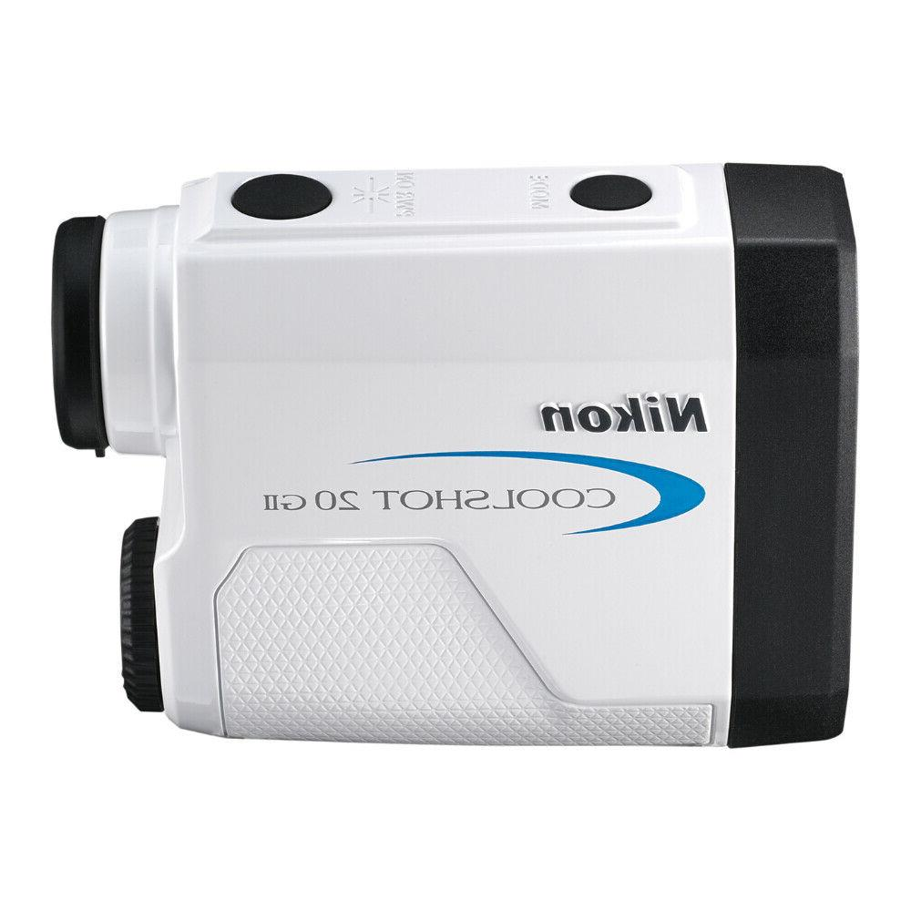 Nikon Coolshot 20 GII Golf Laser Rangefinder with 3 Batteries Cloth