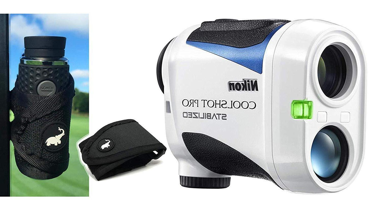 coolshot pro stabilized golf laser rangefinder cart