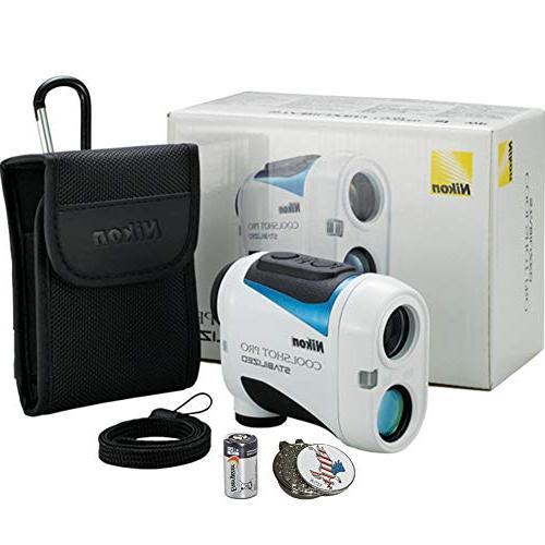 Nikon Coolshot Pro Golf + Battery 1 Custom Ball Marker Clip