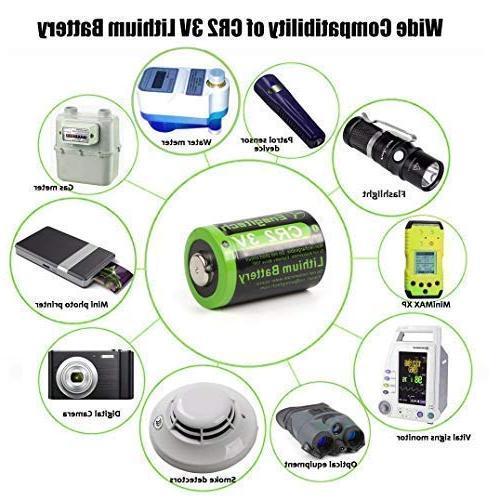 Enegitech CR2 Battery 800mAh 6 with for Pointer Instax Mini55 Flashlight