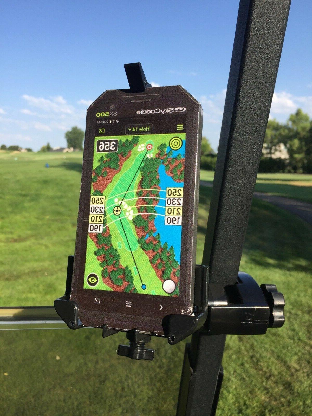 golf cart mount holder for skycaddie sx500