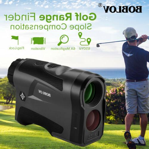 golf hunting range finder with slope compensation