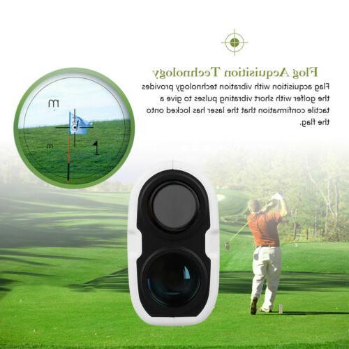 Golf Laser Range Finder w/Slope Scan Pinseeking w/Case