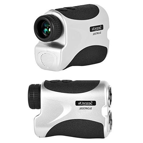 SereneLife Golf Laser Rangefinder with - Compact Design Travel Case