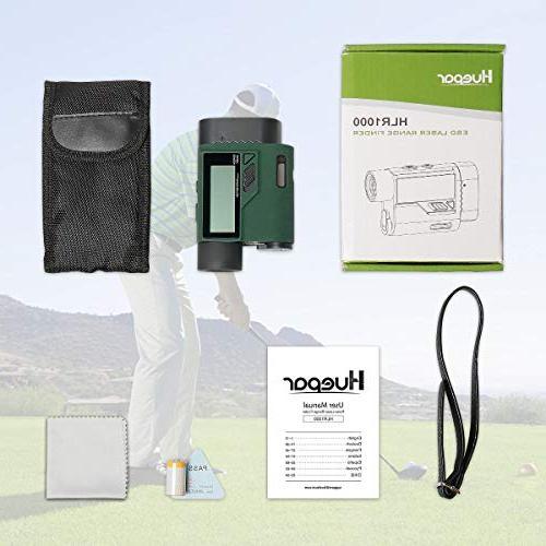 Huepar Rangefinder 1000 Range with Adjustment- Golf Trajectory/Flag-Lock/Distance/Height/Speed/Angle External Screen Golf,