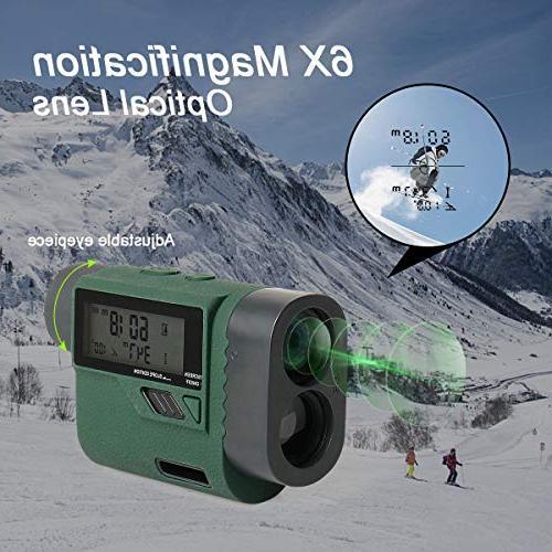 Huepar Golf Laser Rangefinder 1000 Range Finder with Adjustment- Golf Measurement, External LCD for Golf,