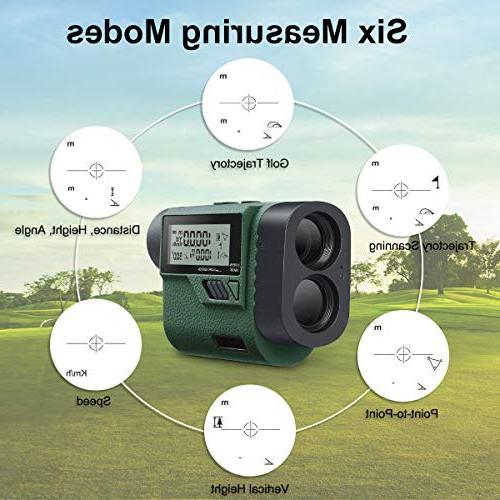 Huepar Golf Laser Range Finder Adjustment- Trajectory/Flag-Lock/Distance/Height/Speed/Angle Measurement, Golf, Hunting HLR1000