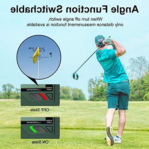 Huepar 1000 6X Laser Range with Adjustment- Golf Measurement, External LCD Golf, Hunting HLR1000
