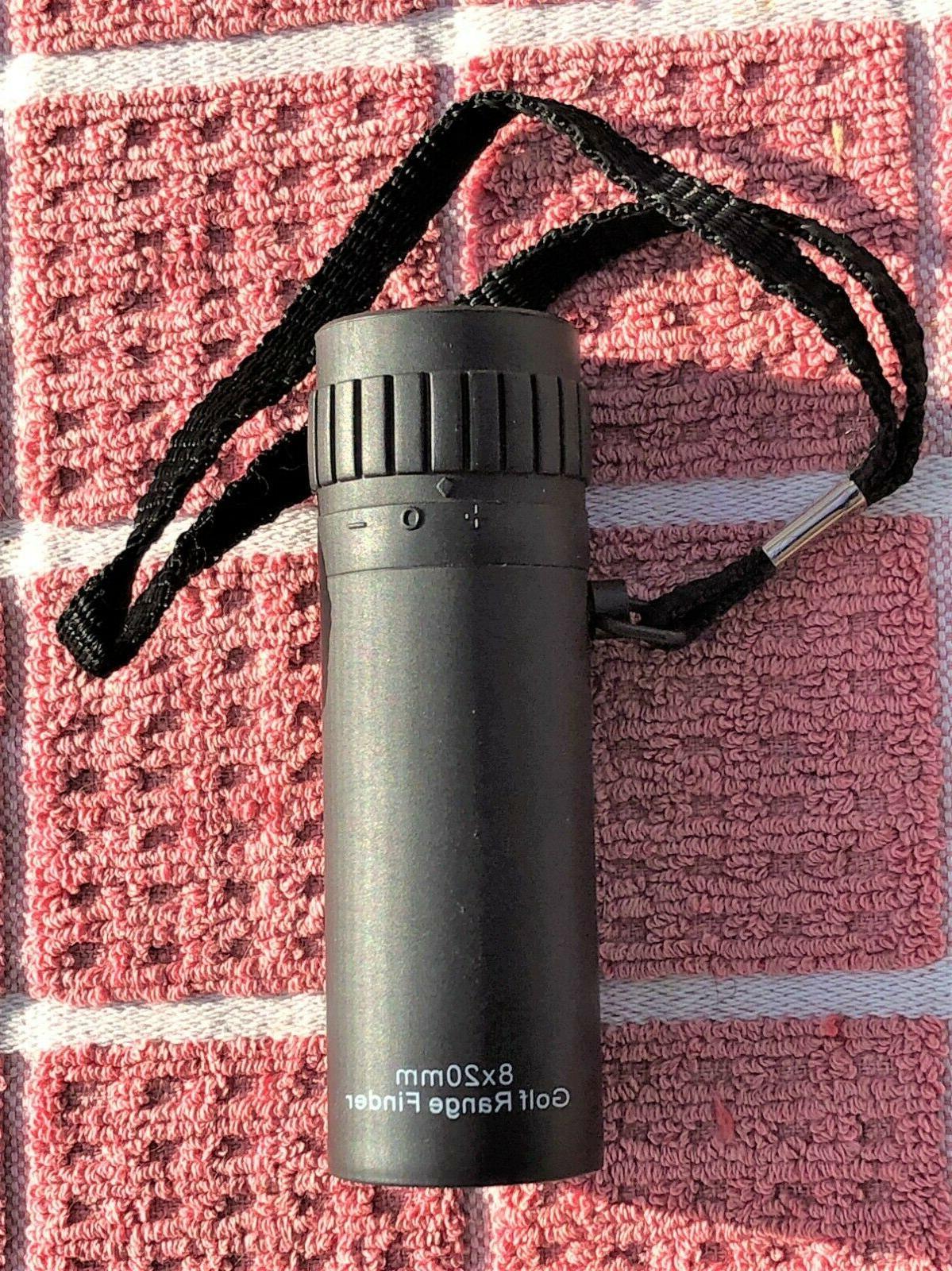 golf range finder 8x20mm adjustable eye piece