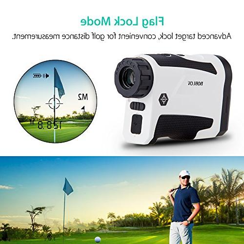 BOBLOV 650Yards Rangefinder with Pinsensor On/Off Flag Distance Measurement Range