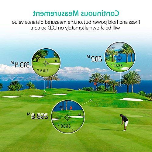 BOBLOV Golf with Support On/Off Flag Lock Distance Speed Measurement Range Finder